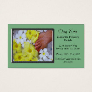Spa Luxury Pedicure Manicure Business Card