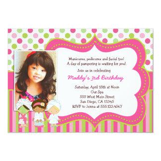 Spa Manicure Pedicure Birthday Party invitations