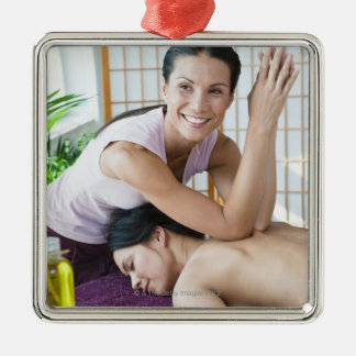 Spa massage 2 metal ornament