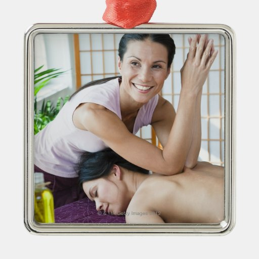 Spa massage 2 christmas tree ornaments