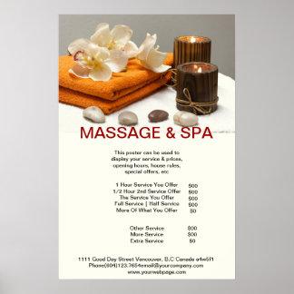 Spa Massage Beauty Salon Candle Poster