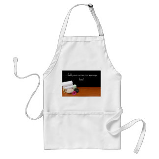 Spa/Massage/Pedicure Salon Scene Black/Color Adult Apron