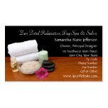 Spa/Massage/Pedicure Salon Scene Black/Color Double-Sided Standard Business Cards (Pack Of 100)