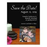 Spa/Massage/Pedicure Salon Scene Black/Color 4.25x5.5 Paper Invitation Card