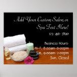 Spa/Massage/Pedicure Salon Scene Black/Color Poster
