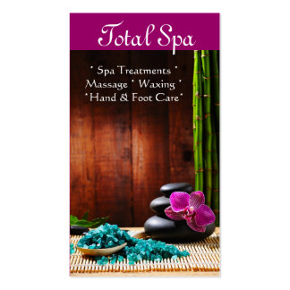 Spa Massage Salon Business Card Therapy