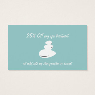 Spa Massage Stone Business and Coupon Cards