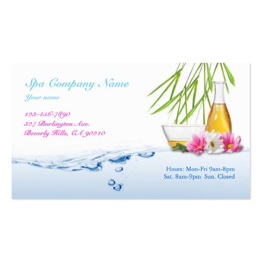 Spa / Natural Business Card