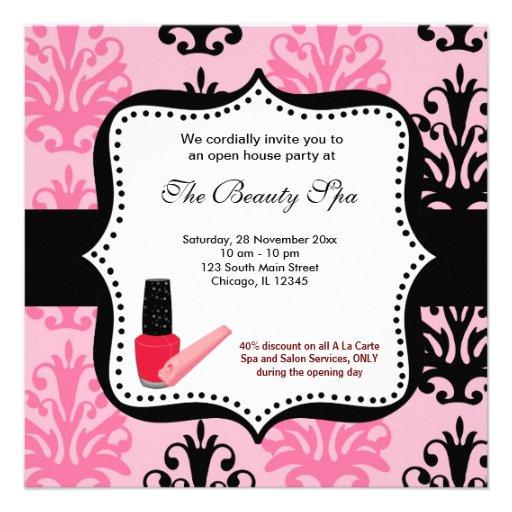 Spa Open House celebration Personalized Invitation