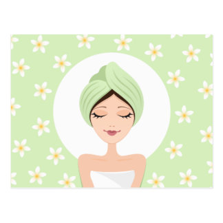 Spa or beauty salon postcard