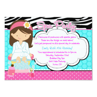 Spa Party 4.5x6.25 Paper Invitation Card