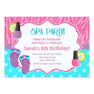 Spa Party Birthday Invitation 5x7 Card
