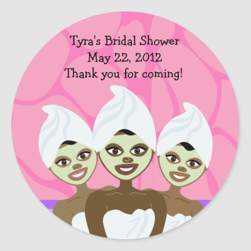Spa Party Bridal Shower / Birthday Favor Sticker
