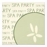 """Spa Party Invitation 5.25"""" Square Invitation Card"""