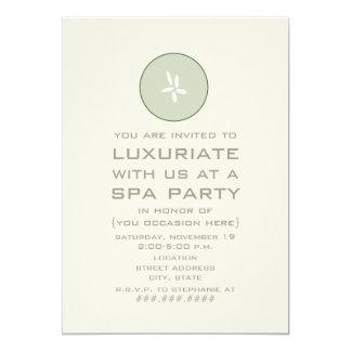 """Spa Party Invitation - Cucumber 5"""" X 7"""" Invitation Card"""
