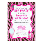 Spa Party Invitation, Spa Birthday sleepover Card