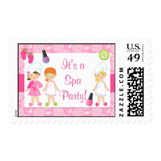 Spa Party Postage Stamps