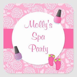 Spa Party Stickers