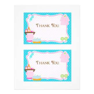 Spa Party thank you card Letterhead