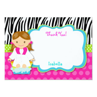 Spa Party Thank you note cards