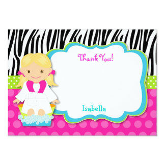 Spa Party Thank you note cards Custom Invitation