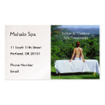 Spa Photo of Outdoor Massage Table Business Card Templates