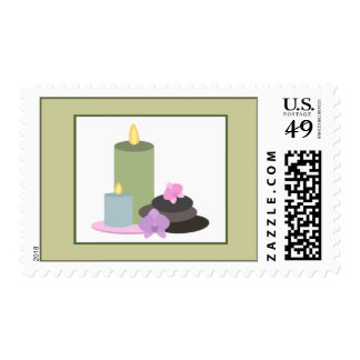 Spa Postage - Spa Stones, Orchids, and Candles