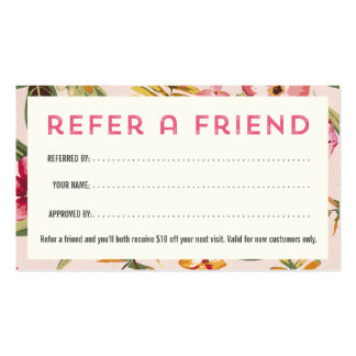 Spa Referral Business Card