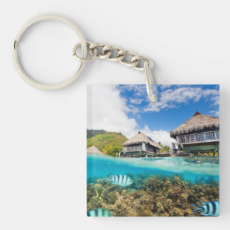 SPA resort Single-Sided Square Acrylic Keychain