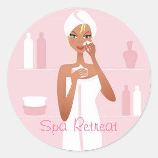 Spa Retreat Classic Round Sticker