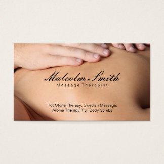Spa Retreat | Massage (appointment card) Business Card