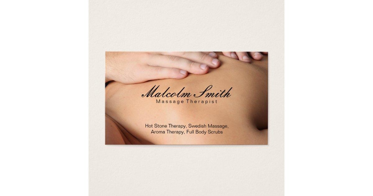 Spa Retreat   Massage (appointment card) Business Card   Zazzle.com