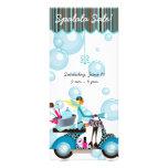 Spa Sale Scooter Hair Salon Makeup Artist Bubbles Personalized Rack Card