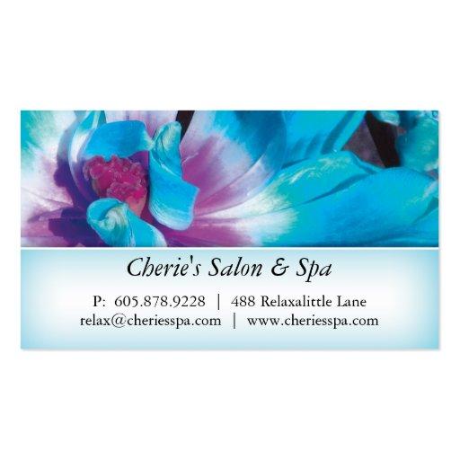 Spa - Salon Blue Flower 1 Business Card