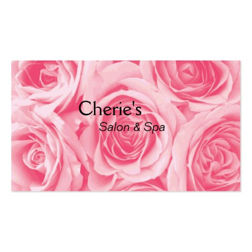Spa - Salon Blushing Pink Roses Business Card