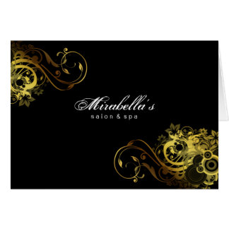 Spa Salon Brochure Greeting Card Gold Butterfly 2