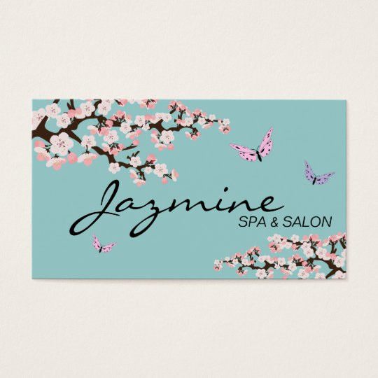 Spa & Salon Business Card - Cherry Blossoms