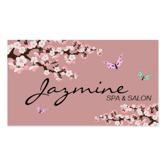 Spa Salon Business Card - Cherry Blossoms