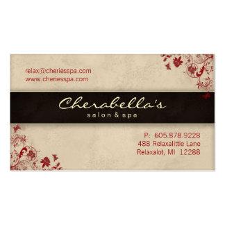 Spa Salon Business Card Floral Butterflies Cream R