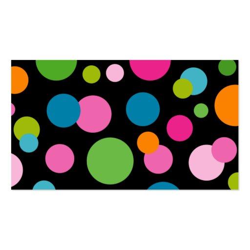 Spa - Salon Color Circles Business Card black