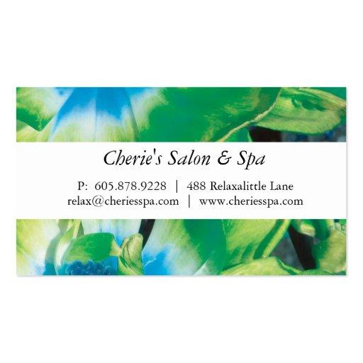 Spa - Salon Green Flower Business Card