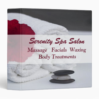 Spa Salon Massage Towels Hibiscus Binder