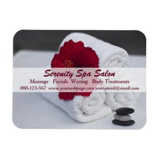 Spa Salon Massage Towels Hibiscus Magnet