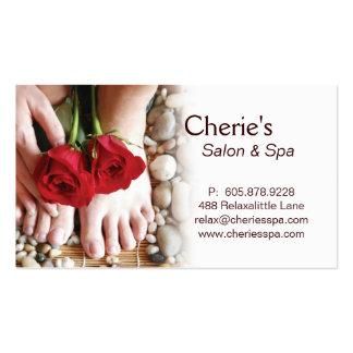 Spa - Salon Pedicure Manicure 2 Business Card