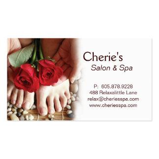 Spa - Salon Pedicure Manicure Business Card