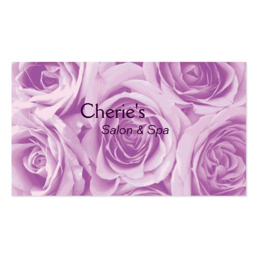 Spa - Salon Pink Roses Business Card