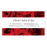 Spa - Salon Red Roses Business Card