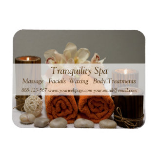 Spa Salon Tranquil Towels Candles Magnet