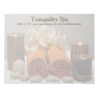 Spa Salon Tranquil Towels Candles Notepad