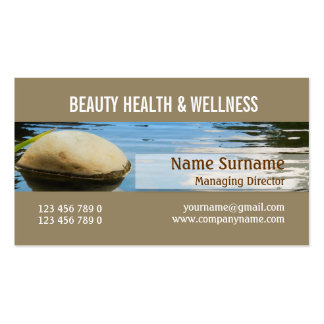 Spa salon zen wellness PERSONALIZE Business Card Templates